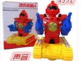 电动坦克机器人 589-3玩具车 音乐灯光万向 地滩热销玩具批发