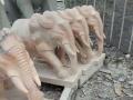 出售嘉祥石雕石狮子大象麒麟貔貅抱鼓以及桌上雕塑摆件等