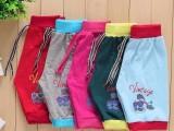 夏季新款韩版童装中小童裤子 儿童百搭提花棉麻短裤