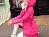 2015秋冬季新款棉服女中长款韩版修身时尚羽绒棉衣女式棉袄外套