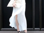 8568韩国2014夏装新款东大门韩版半身裙不规则裙雪纺裙长裙女