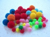 棉球小毛绒涤纶球毛线球亚克力彩色高弹球开司米毛线球