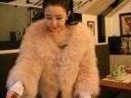 韩国订单!鸵鸟毛皮草毛毛外套新款2013火鸡毛短款特价女装批发