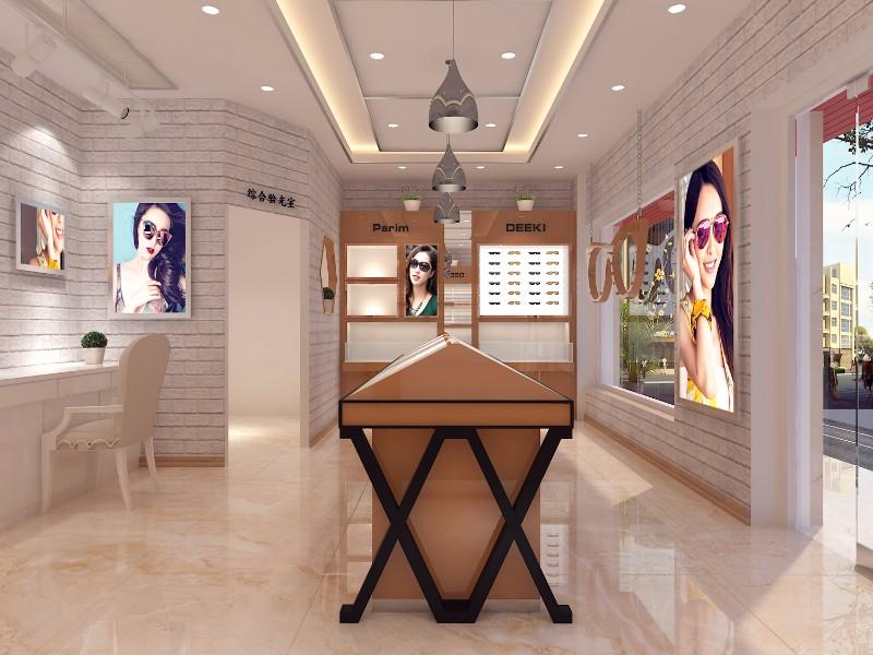 咸阳眼镜店设计装修眼镜展柜定制制作