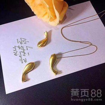 日本进口18K金鲤鱼项圈厂家可定制刻字