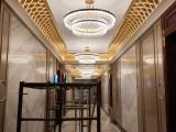 惠州酒店贴金箔 别墅贴金箔 售楼部贴金箔 护墙板贴金箔