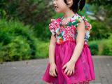 童装--短款两穿荷叶边连衣/女童裙夏装演