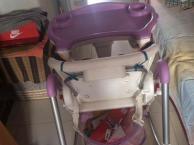 低价转让高景观婴儿车 实木婴儿床 高级坐半躺全躺餐车