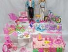 芭比娃娃过家家玩具 换装洋娃娃全家福豪华套装 特惠包邮