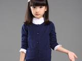 外贸原单童装秋装韩版女童针织衫儿童针织开衫外套童毛衣一件代发