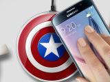 三星S6环形无线充电器S6 edge美国队长充电底座QI 苹果无