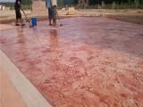 包施工安徽六安水泥压花地坪 新农村建设艺术仿古地坪