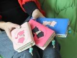 [热]卡通钱包 卡通可爱奇尾猫印花波点内格短中长款女士钱夹钱包