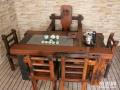 怀化市老船木茶桌椅子仿古茶台实木沙发茶几餐桌办公桌家具博古架