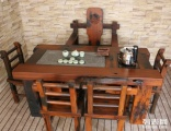 上海市老船木茶桌椅子仿古茶台实木沙发茶几餐桌办公桌家具博古架