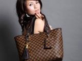 新款女包 手提单肩包新款女包 经典格子纹新款女包送小零钱包