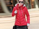 爆款韩版女装羽绒服双领手套短款时尚休闲气质外套棉衣秋冬季609