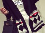 2015秋装新款韩版长袖毛衣外套 女装宽松韩国学院风针织衫女