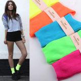 淘宝爆款 超炫荧光女袜 糖果色短袜堆堆袜女生袜 全棉袜