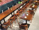 天津海鲜餐厅餐桌椅 天津餐厅榆木餐桌椅 天津自助实木餐桌椅