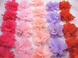 雪纺8叶加密花朵立体花边 DIY饰品服装辅料 宽6.5/8CM