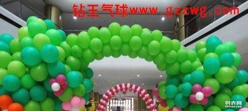 山东淄博市气球布置 商场周年庆活动气球布置图片