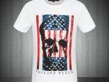 欧洲2014新款夏季男装德国PP外贸T恤修身撞色骷髅图案棉短袖