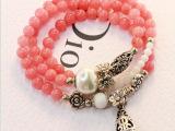优雅水滴水晶珍珠天然多层饰品小花朵小清新珍珠手串开运招桃花