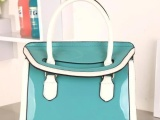 热卖2013春夏新款亮面包包手提包时尚韩