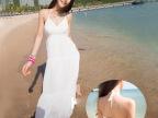 2014春季女装沙滩裙v领白色连衣裙原单波西米亚沙滩长裙女裙826