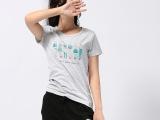 2014夏装新款韩版女 短袖T恤 纯棉t恤 灰色大码女士 t恤一