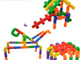 儿童玩具礼盒运转水管积木益智早教拼插拼装玩具幼儿园批发