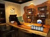 烘干琥珀木异形设计师办公桌茶桌