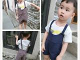 童装男童夏装2015新款韩版男宝宝背带裤儿童中裤小童短裤一件代发