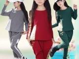 女童装大童女装秋季2014新款潮儿童套装春秋款女孩纯棉休闲套装