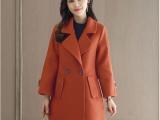 26元秋冬新款韩版羊毛呢外套女中长款女装小个子羊绒呢子大衣