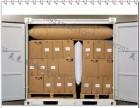 北京牛皮纸充气袋 35cm气泡柱卷 牛皮纸集装箱充气袋