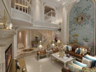 融科橡树澜湾别墅法式风格装修参考图 天古梦空间设计师李凤琴