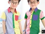 工厂便宜童装批发 夏季儿童衬衫9.5元 小童中大童码数齐全