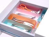 日式创意家居塑料收纳盒 纯色抽屉餐具文具整理盒 批发 单个装