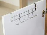 厨房浴室橱柜门背挂钩 门后不锈钢五连钩 铁艺无痕杂物收纳5挂勾