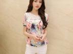2014夏装新款艳丽包身上衣 女 韩版修身雪纺衫小杉