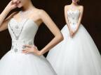 2015新款时尚抹胸齐地婚纱新娘结婚礼服修身显瘦 影楼婚纱批发H56