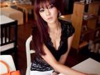 2014夏韩版潮深V领镂空低胸全蕾丝性感紧身短袖小背心女打底衫