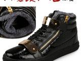 2014新款秋冬棉靴批发 英伦时尚男靴潮流高帮保暖靴子 休闲男鞋