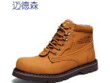 冬季款英伦军靴男鞋子男士真皮中帮马丁靴男靴韩版潮流男鞋男单靴