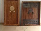 实木仿古入户门 做旧单门 室内门 老榆木进户门 祠堂门定做