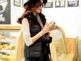 妮莎维拉14新款韩版修身轻薄款立领羽绒服马甲背心女短款特价正品
