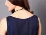 厂家供应2013夏季新款女装双层大摆假两件雪纺背心连身裙 幽墨