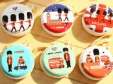 日韩英伦卡通人物零钱包 随手包 圆形硬币包 马口铁 广告礼品批发
